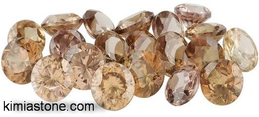 سنگ های قیمتی الماس قهوه ای