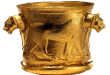 جام زرین کلاردشت در موزه تاریخ ساری