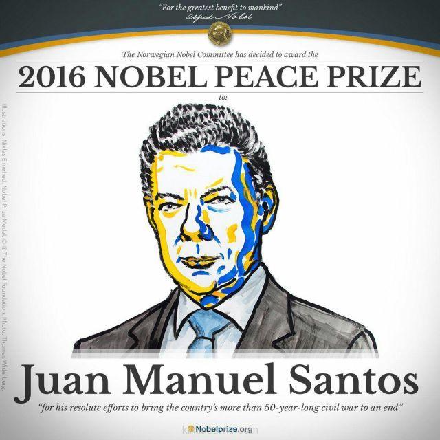 برنده جایزه صلح نوبل 2016