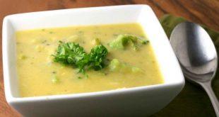 سوپ قارچ و بروکلی