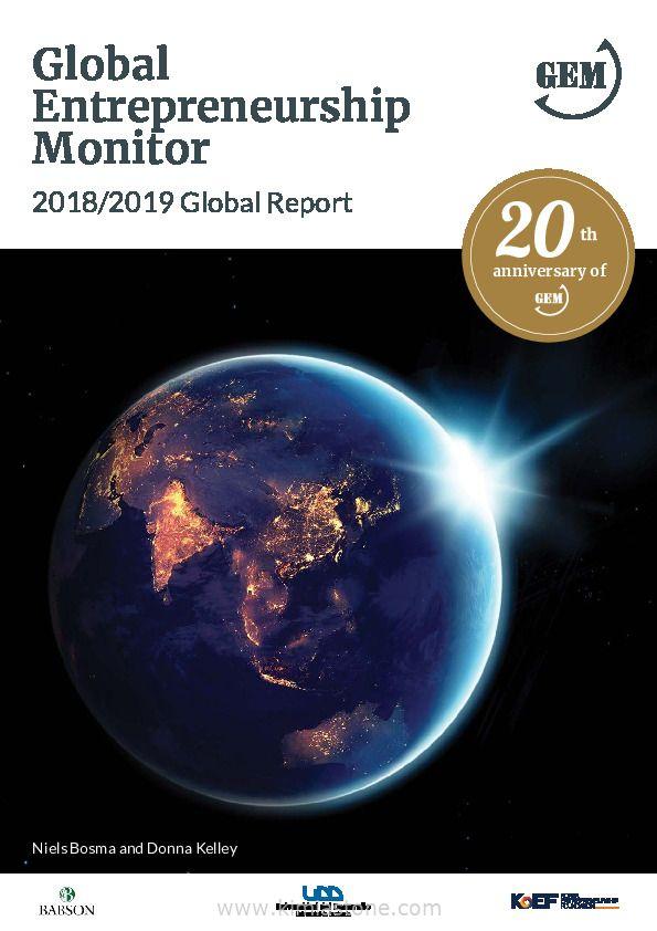 گزارش دیده بان جهانی کارآفرینی در سال ۲۰۱۹