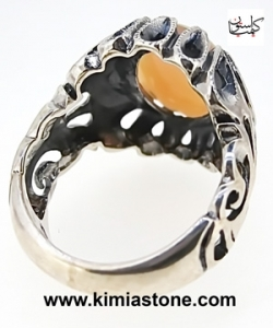 خرید انگشتر نقره اوپال آتشین Fire Opal