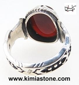 انگشتر نقره عقیق سرخ یمنی