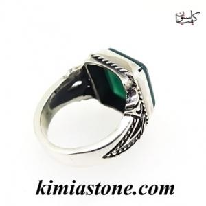انگشتر نقره عقیق سبز یا حکاکی فاطمه الزهرا