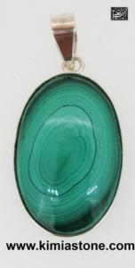 گردنبند(آویز) نقره سنگ  مالاکیت (Malachite )